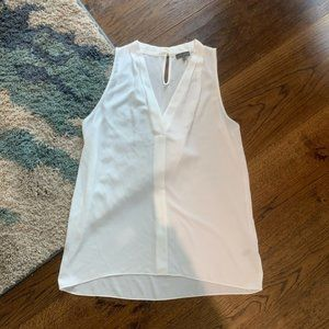 Vince Camuto White Sleeveless Blouse